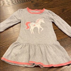 Gymboree unicorn long sleeved dress